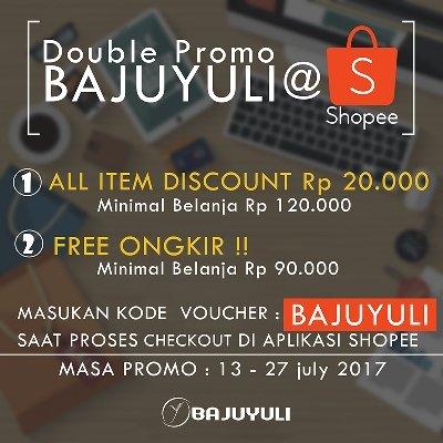 promo Shopee BAJUYULI gratis ongkir